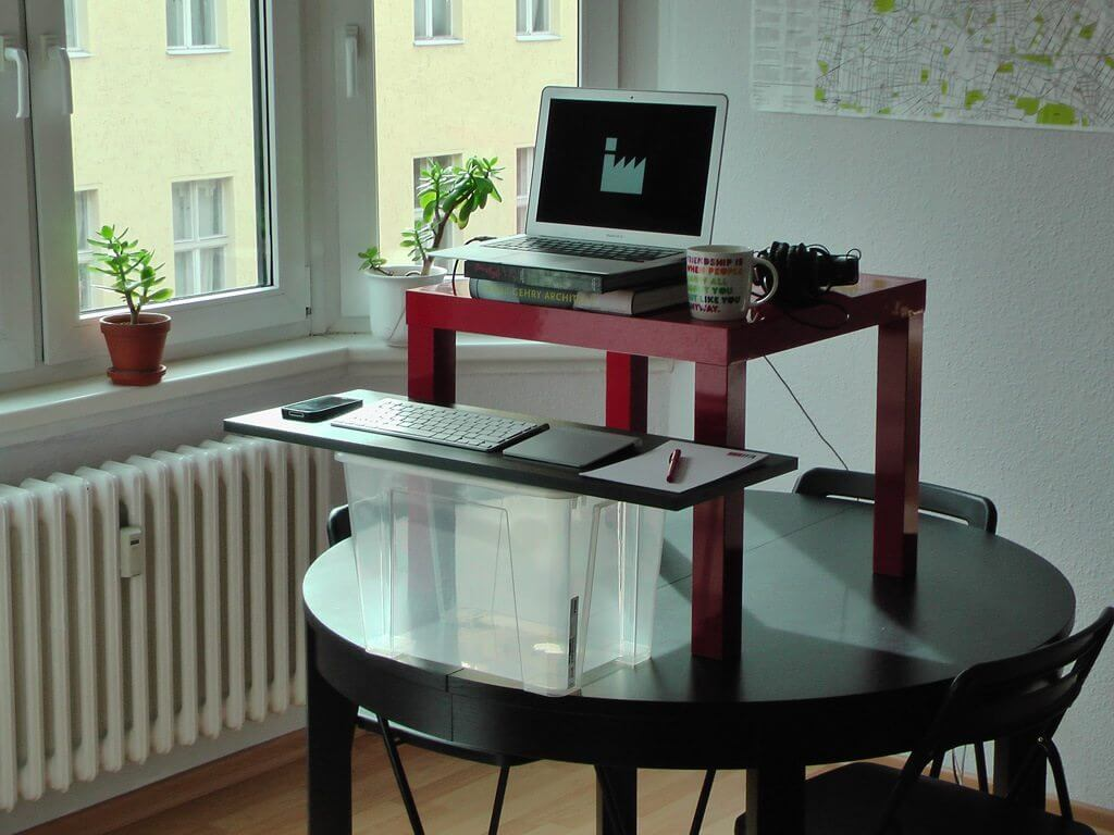 the 18 euro diy standing desk conversion an ikea hack. Black Bedroom Furniture Sets. Home Design Ideas
