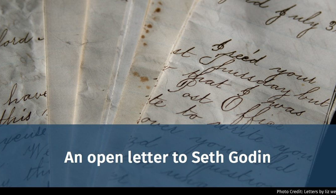 An open letter to Seth Godin: let's save the world from bad presentations