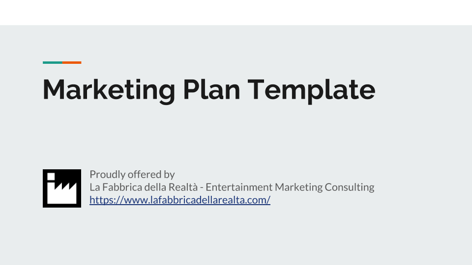 Template Digital Marketing Plan for the blog