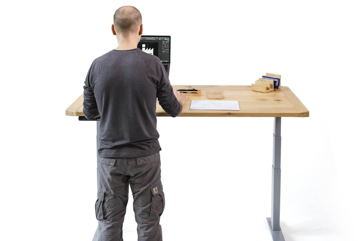 Work Standing at Integral Desk