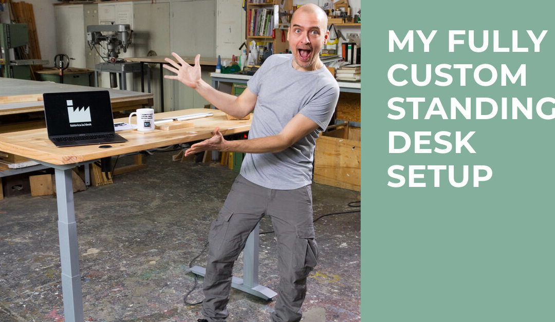 My Fully Customized Standing Desk Setup – Video